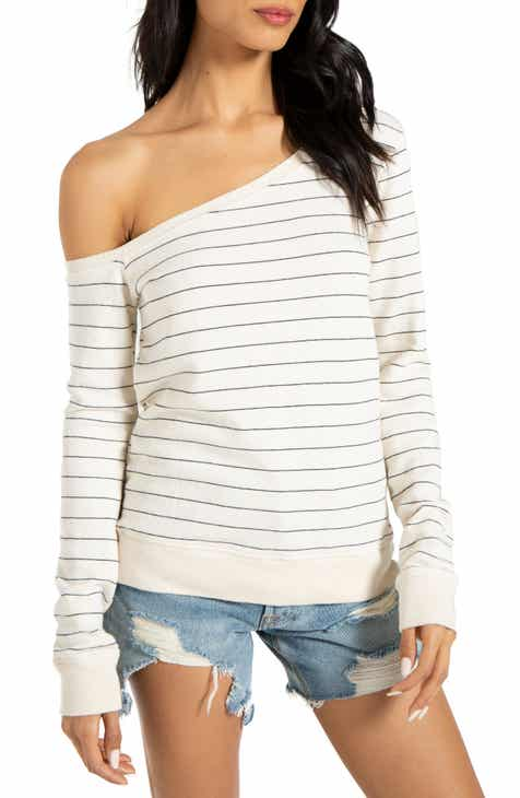 1b569dc78a5ba4 n:PHILANTHROPY Walker Off the Shoulder Sweatshirt
