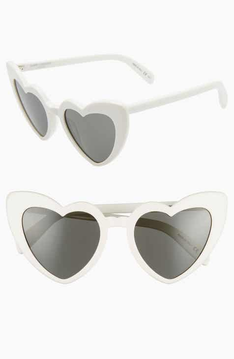 0d5f7c2665814 Saint Laurent Loulou 54mm Heart Sunglasses