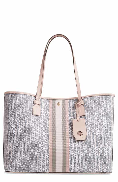 af0e0ceb98e59 Tory Burch Gemini Link Coated Canvas Tote