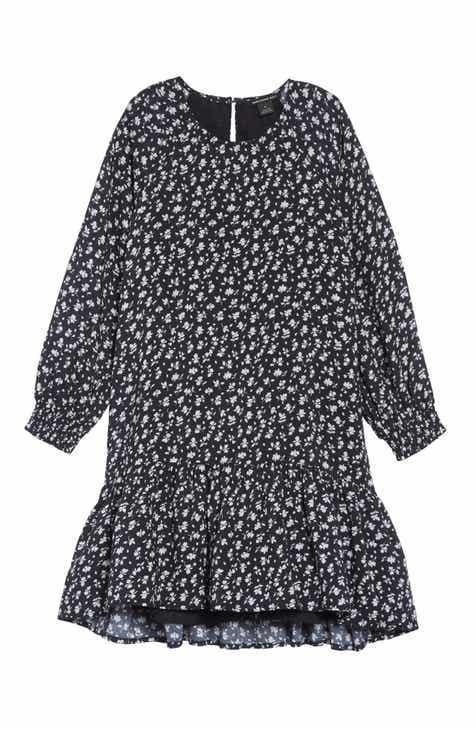 305cdb621bab Something Navy Ruffle High Low Dress (Toddler Girls