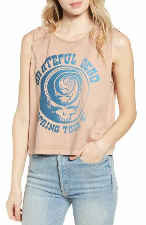 Junk Food Grateful Dead Spring Tour Sleeveless Cotton Tee