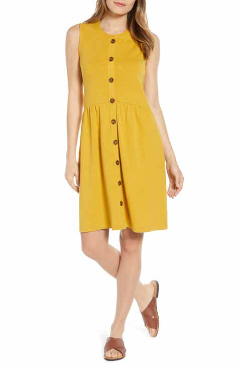 Leith Twist Front Cutout Midi Dress by LEITH