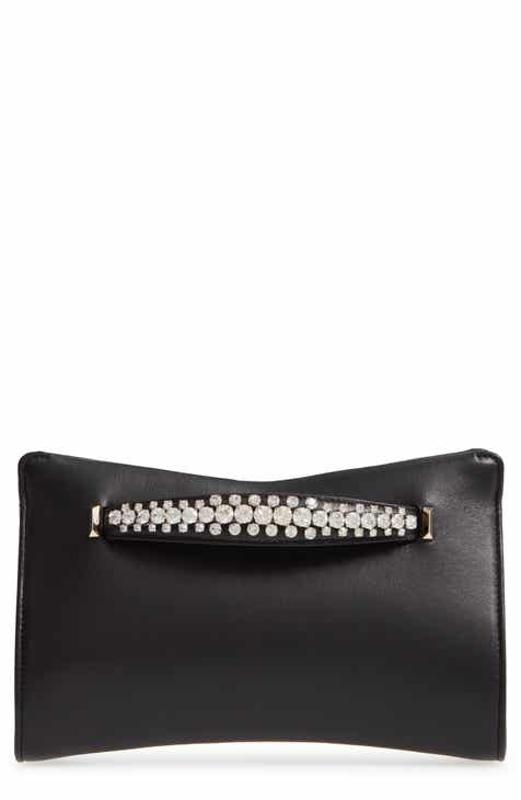 f755c1d0e5e Jimmy Choo Nappa Leather Clutch with Crystal Bracelet Handle