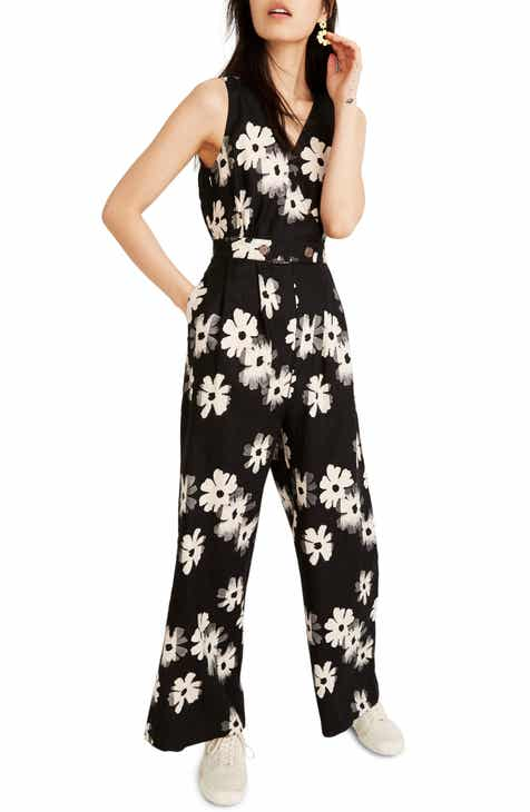 1901 Button Front Jumpsuit (Plus Size) by 1901