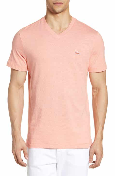 a139cc5ff5254 Lacoste Regular Fit V-Neck T-Shirt