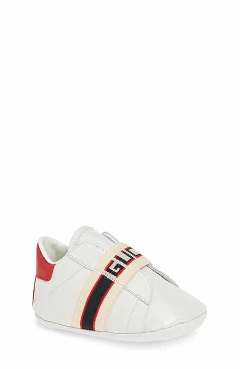 e1430fee5e1 Gucci New Ace Logo Strap Sneaker (Baby)