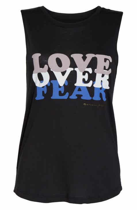 3d218fe1233b3a Spiritual Gangster Love Over Muscle Tank Top