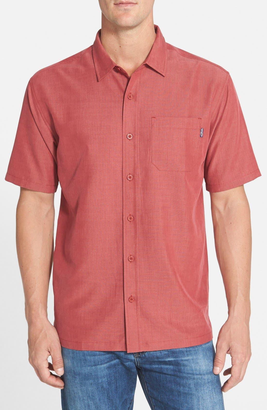 JACK ONEILL Ixtapa Slim Fit Short Sleeve Woven Sport Shirt