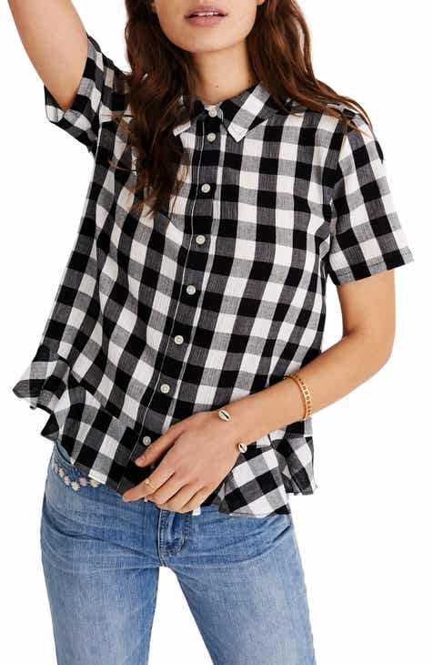 ad10b1b53 Madewell Gingham Peplum Button Down Shirt