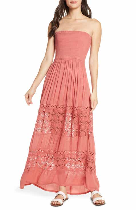 98c1b911eb2 Chelsea28 Farrah Smocked Cover-Up Maxi Dress