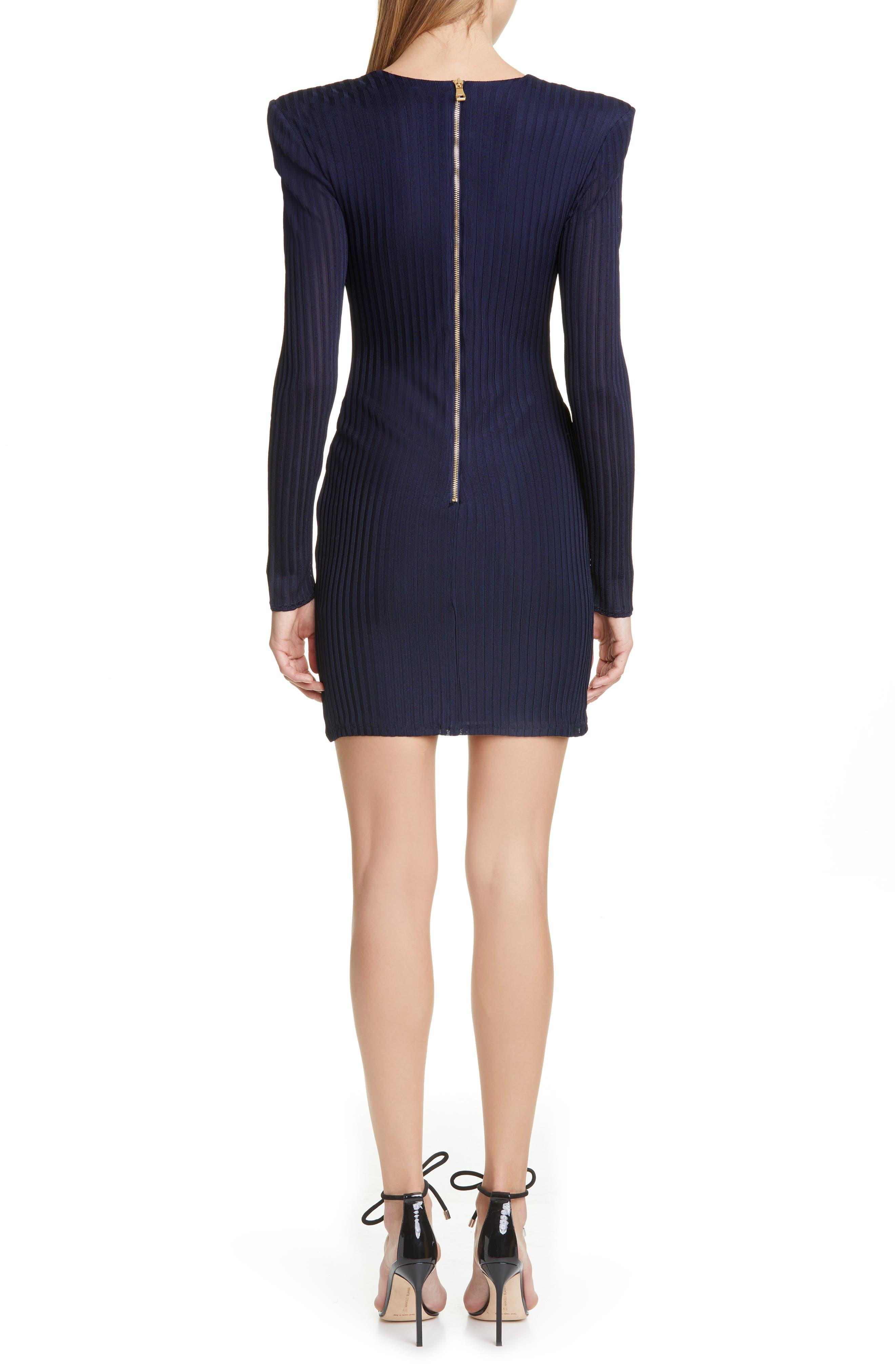 4c99618c long sleeve ribbed dress | Nordstrom