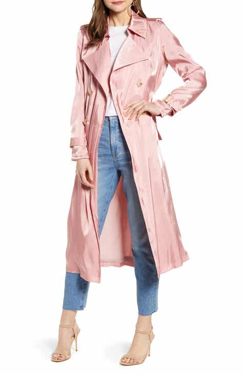 Something Navy Iridescent Trench Coat (Nordstrom Exclusive) by SOMETHING NAVY