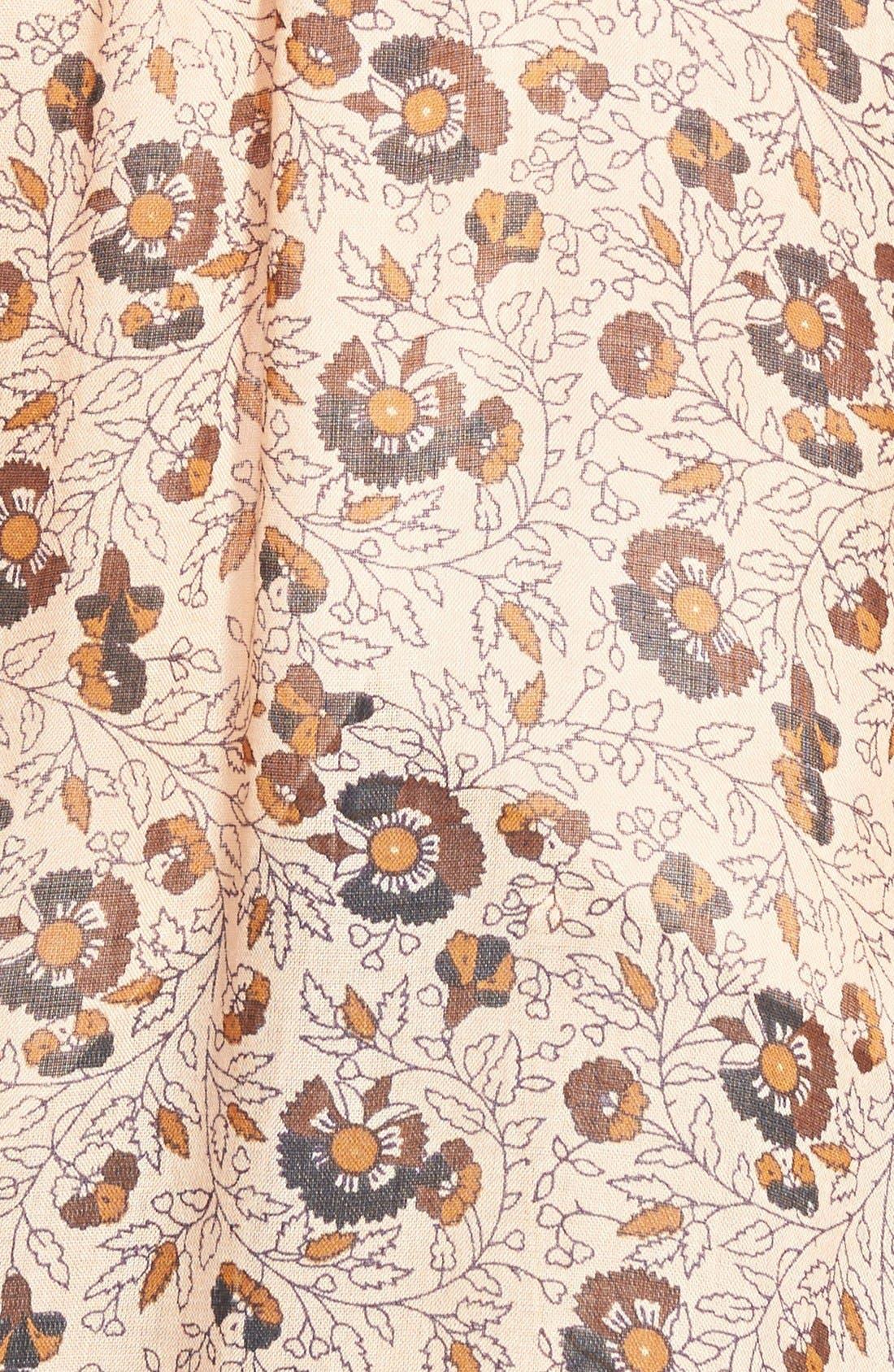 Alternate Image 3  - Band of Gypsies Long Floral Print Kimono