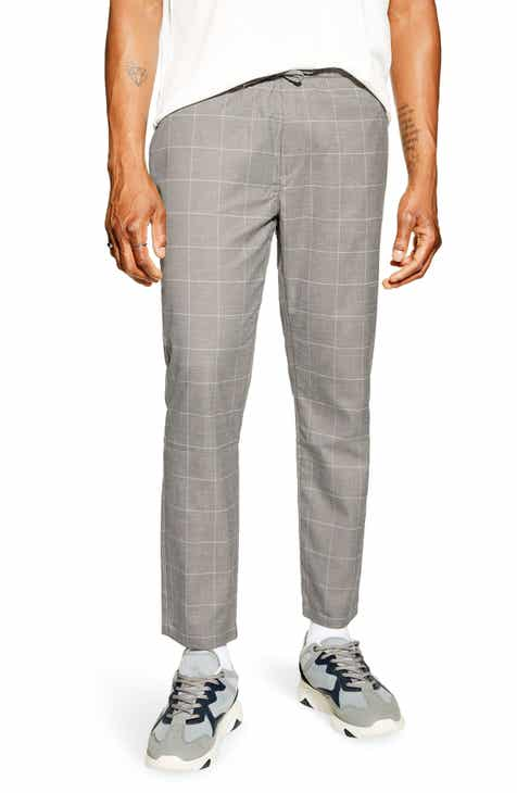 65f82f50a Topman Windowpane Check Crop Trousers