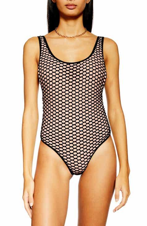 875f198d78 Topshop Fishnet Scoop Neck Swimsuit