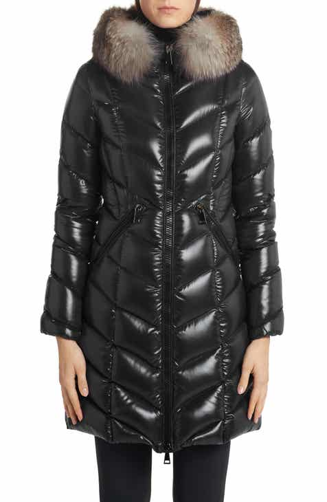 Moncler Fulmarus Quilted Down Puffer Coat with Removable Genuine Fox Fur Trim Sale