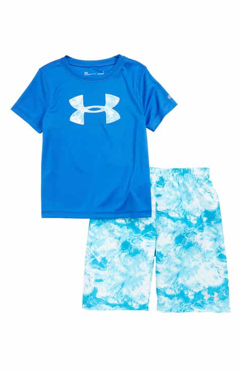 26227939896c Under Armour Rashguard   Swim Trunks Set (Toddler Boys   Little Boys)