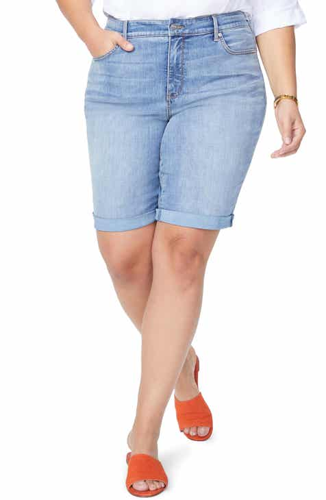NYDJ Briella Cool Embrace Roll Cuff Denim Shorts (Plus Size) by NYDJ