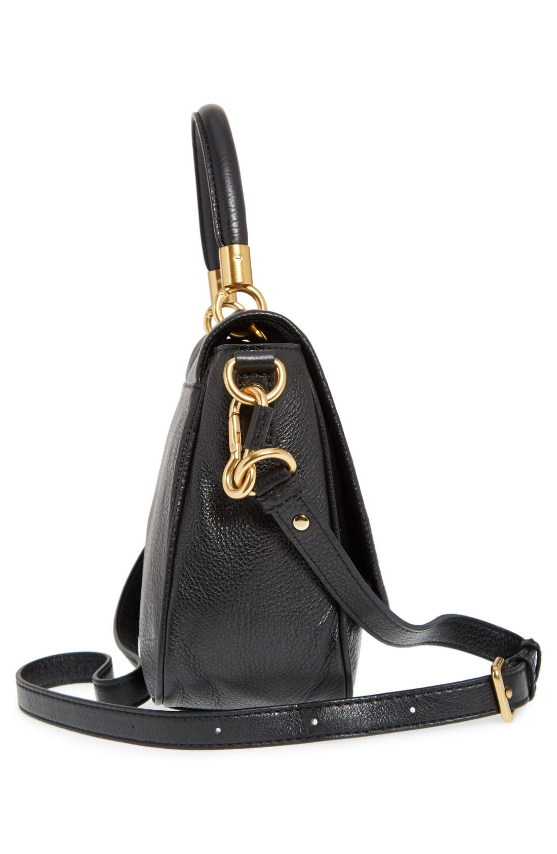 MARC BY MARC JACOBS 'Small Too Hot To Handle' Leather Tote,                             Alternate thumbnail 5, color,                             Black