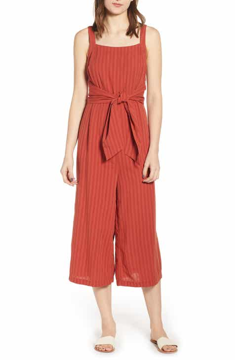 BP. Stripe Tie Waist Jumpsuit (Regular & Plus Size) by BP
