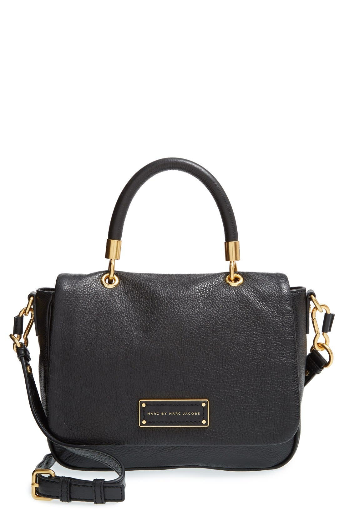 MARC BY MARC JACOBS 'Small Too Hot To Handle' Leather Tote,                             Main thumbnail 1, color,                             Black