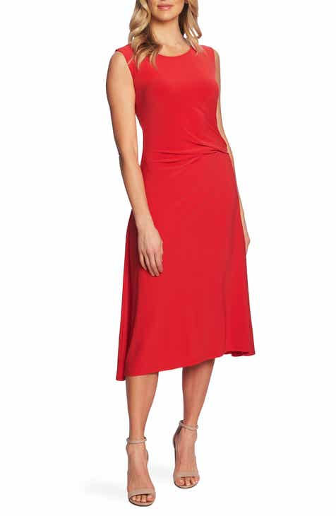 Chaus Side Ruched Midi Dress