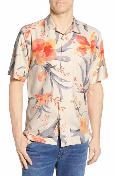 497fde1d2de8f Tommy Bahama Aqua Blooms Classic Fit Silk Sport Shirt