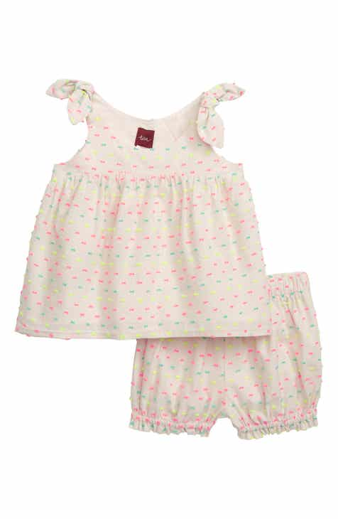 2b13c5d85ac Tea Collection Tie Shoulder Top   Bubble Shorts Set (Baby)