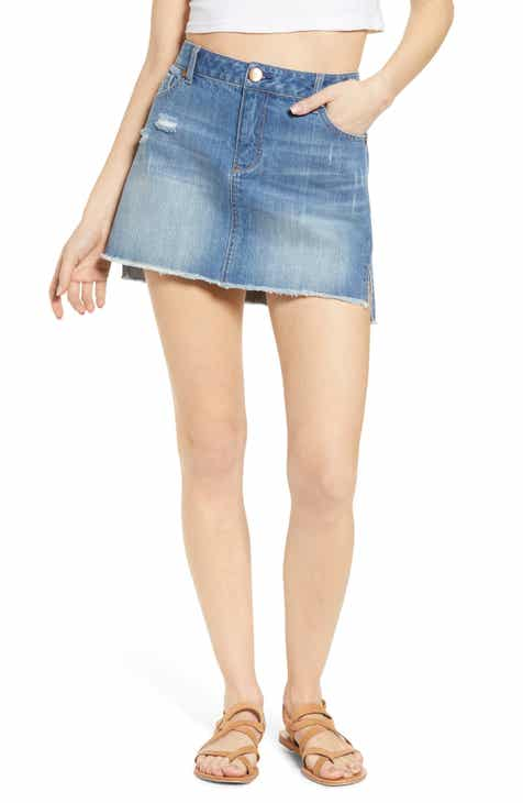 a56ed576e 1822 Denim Raw Step Hem Denim Miniskirt (Jenna)