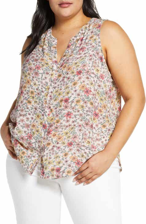 480f5b99754a56 Sanctuary Craft Floral Shell (Plus Size)