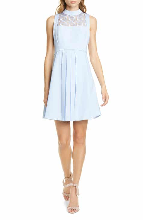 d6e9a2eb5 Ted Baker London Lace Yoke Skater Dress