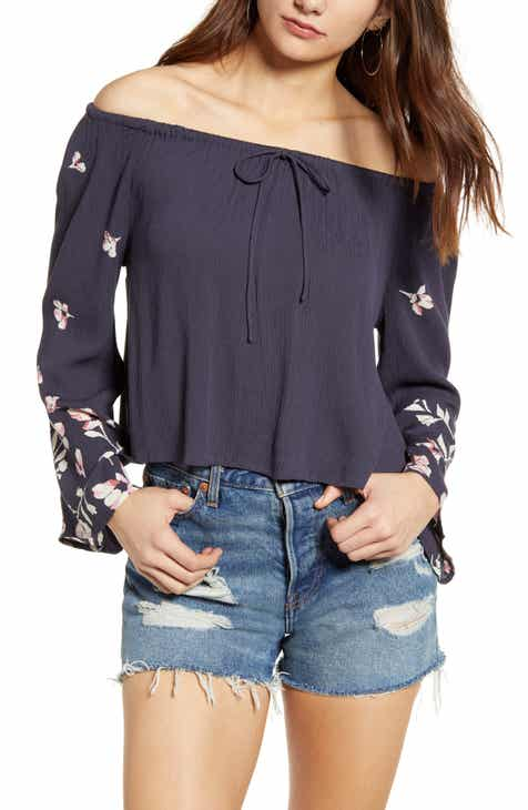 68d307518a30e Billabong Light It Up Off the Shoulder Top