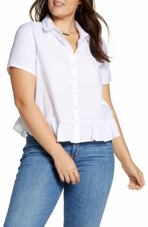 43a5470b Madewell Peplum Button Down Shirt