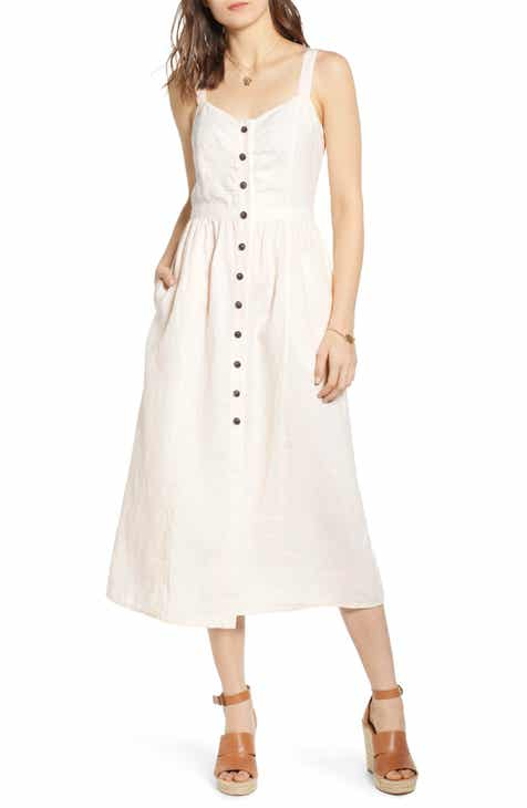 6dc4fe69b6b Treasure   Bond Linen Midi Dress