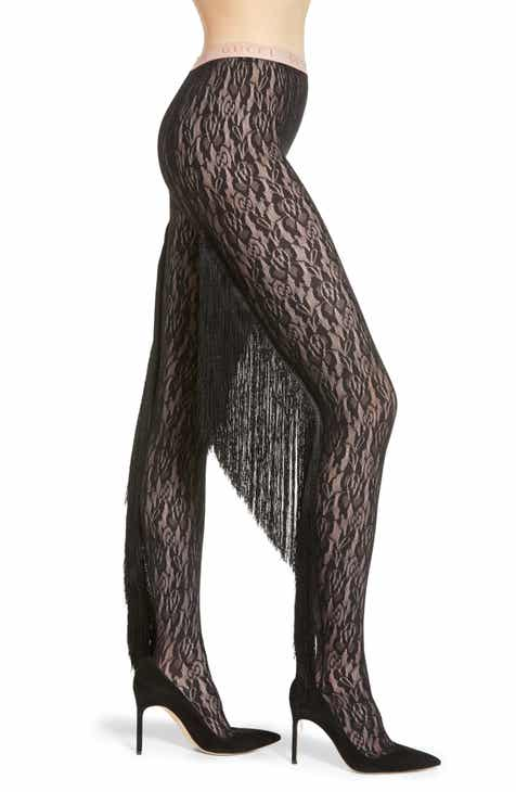 d38a8eb4d587b Gucci Fringe Floral Lace Tights