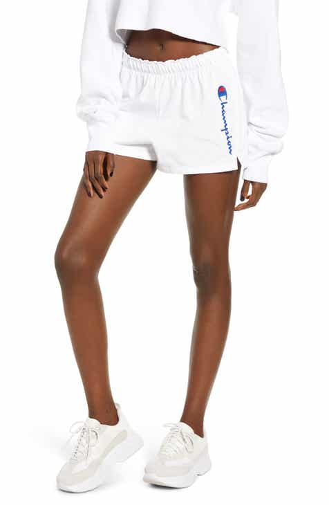 877127221 Champion Embroidered Script Logo Athletic Shorts