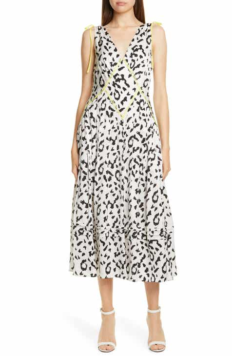 50b8f730061f Self-Portrait Leopard Print Fit & Flare Midi Dress
