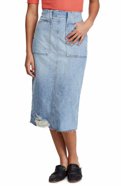 2c6dd077e Free People Elisa Denim Pencil Skirt