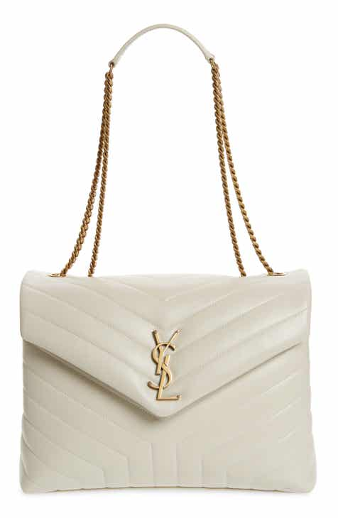 5a2e066535 Saint Laurent Medium Loulou Matelassé Leather Shoulder Bag