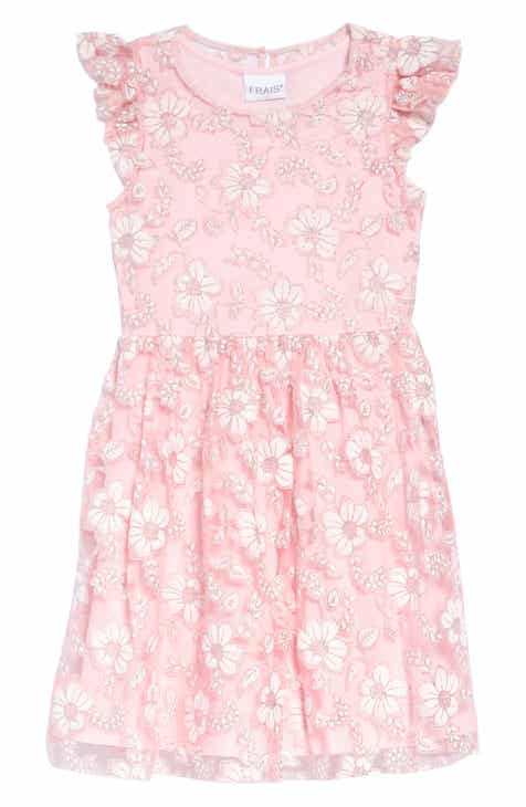 738bbe7964 Frais Floral Overlay Fit   Flare Dress (Toddler Girls