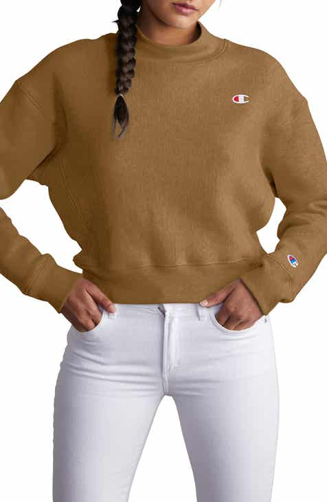 Champion Mock Neck Reverse Panel Crop Sweatshirt