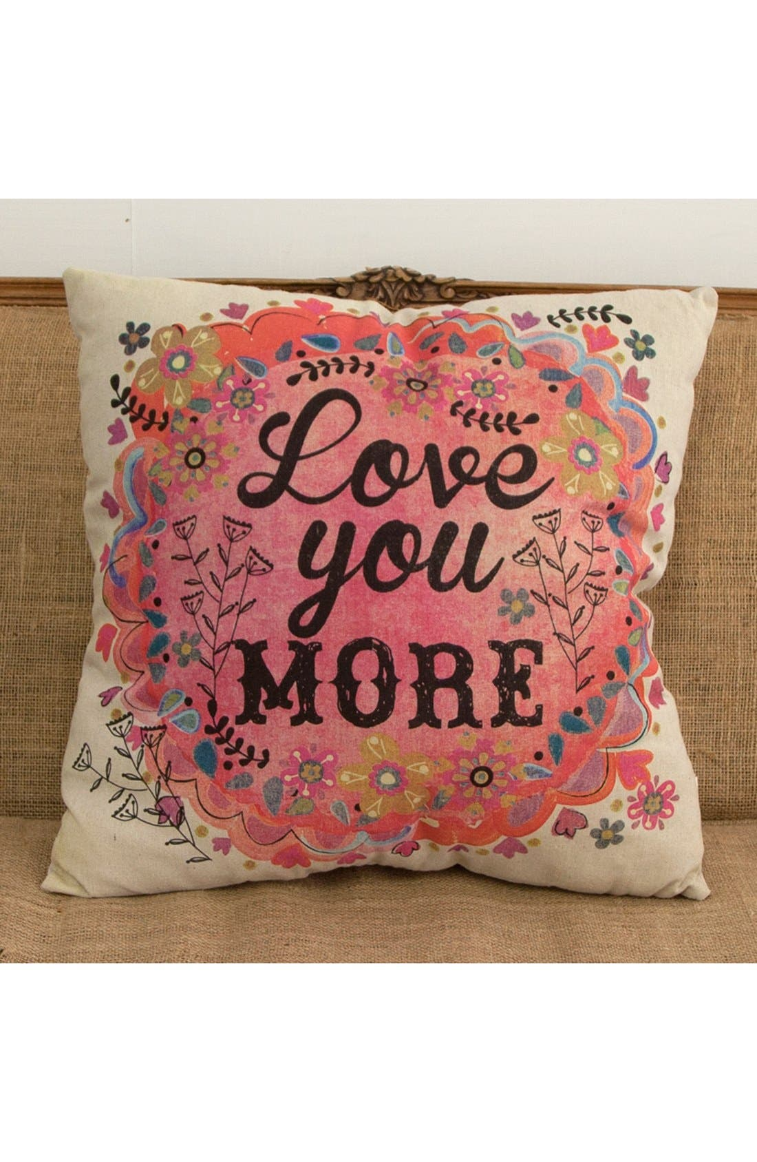 Alternate Image 2  - Natural Life 'Love You More' Pillow