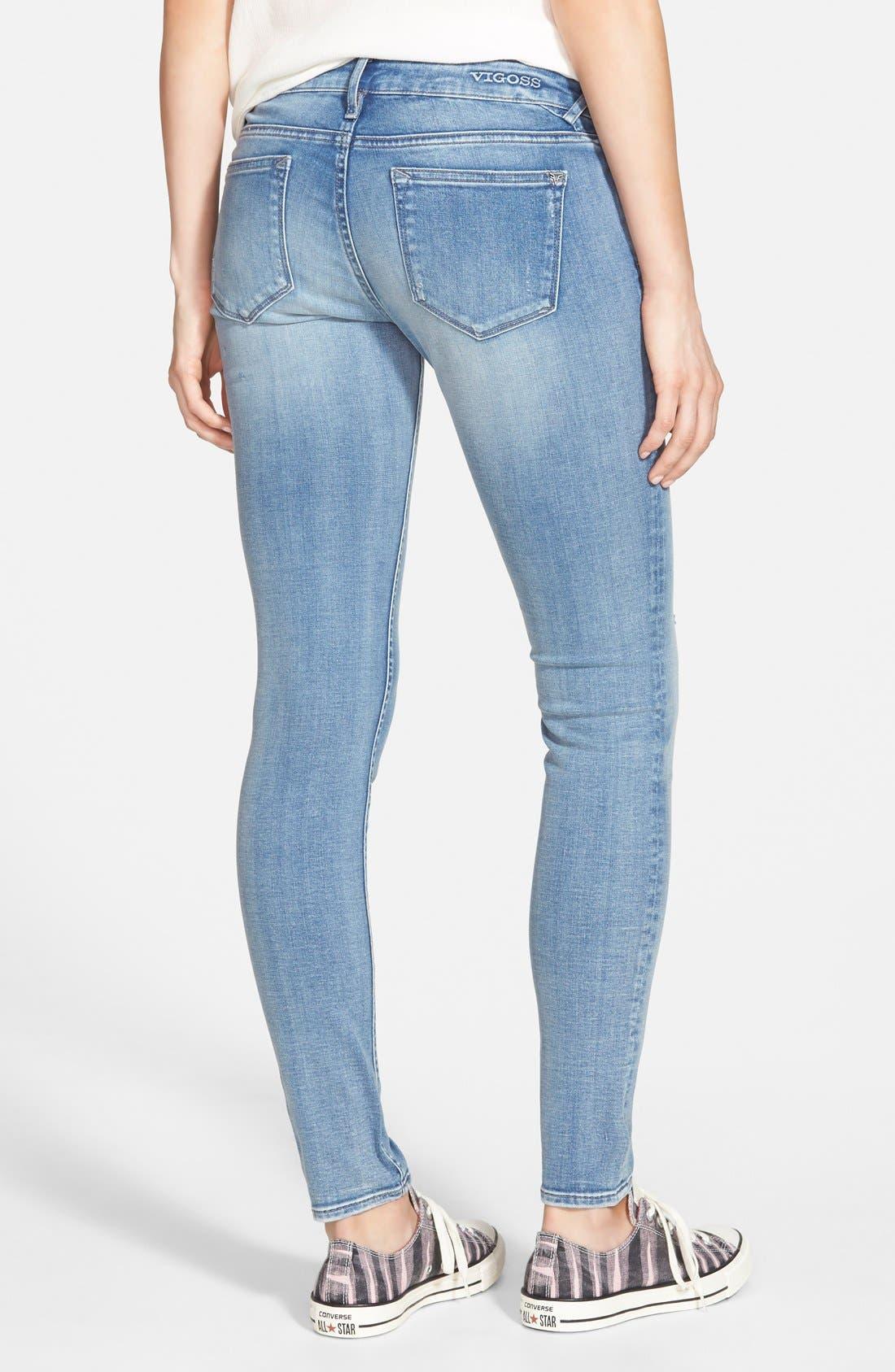 Alternate Image 2  - Vigoss Skinny Jeans (Light)