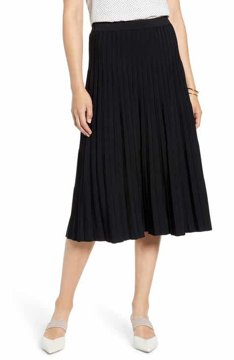 cda2f26276d Halogen® Pleated Knit Skirt