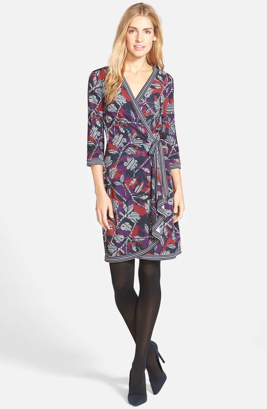 Alternate Image 5  - BCBGMAXAZRIA 'Adele' Print Matte Jersey Wrap Dress