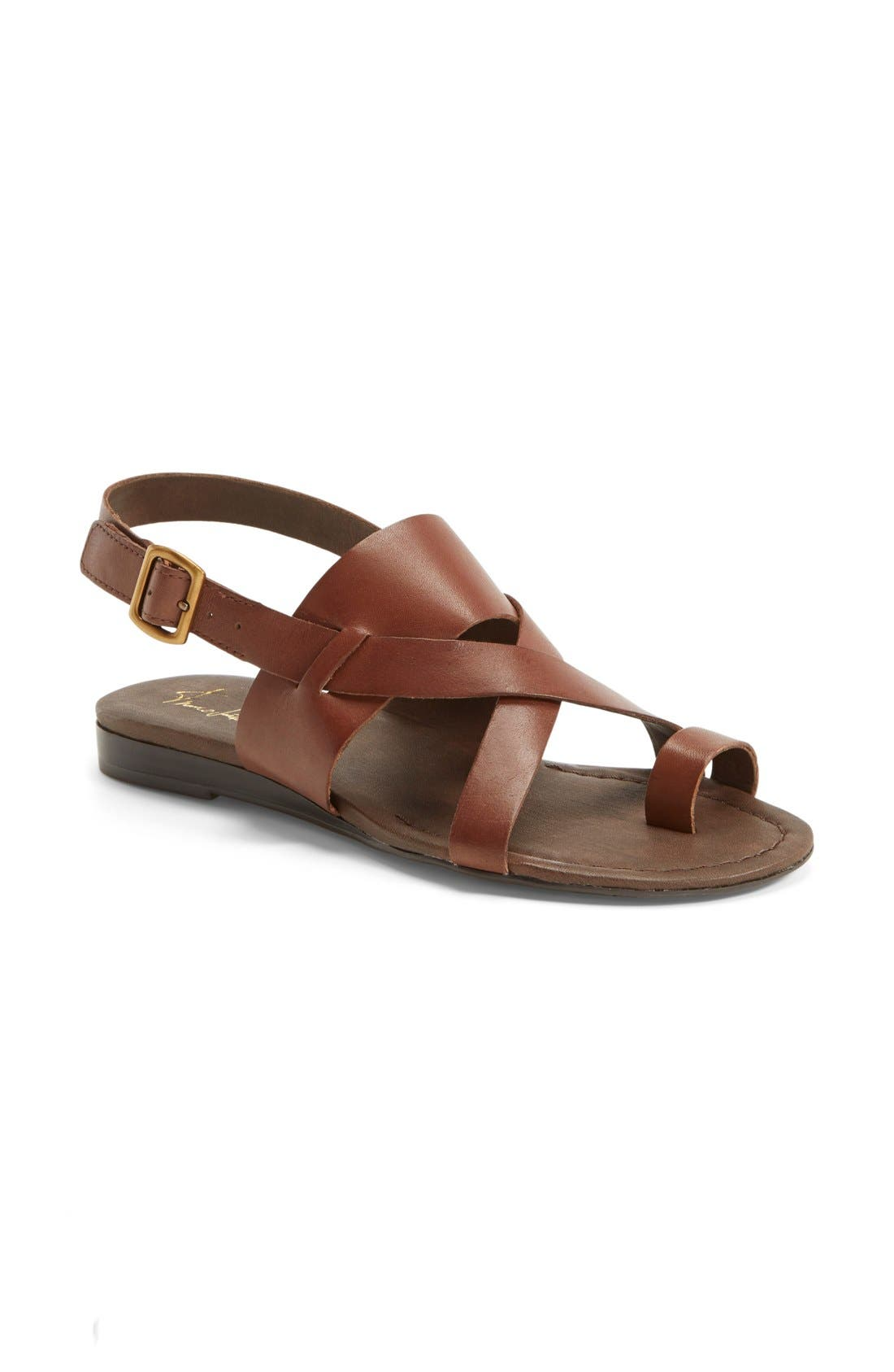 Gia Sandal,                             Alternate thumbnail 3, color,                             Chocolate Antanado