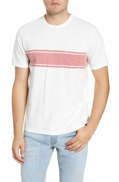 63f48719134 Faherty Surf Stripe Pocket T-Shirt
