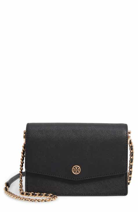 a72d1f60a56 Tory Burch Mini Robinson Leather Shoulder Bag