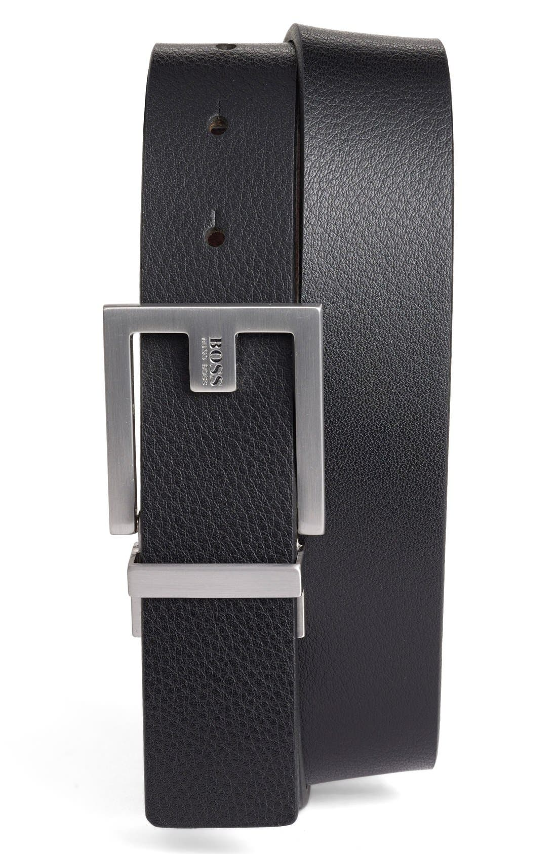 Alternate Image 1 Selected - BOSS Fleming Reversible Leather Belt