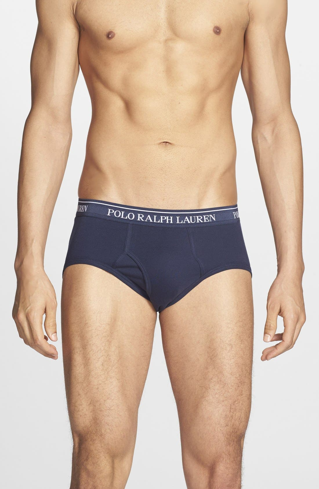 Alternate Image 1 Selected - Polo Ralph Lauren 4-Pack Low Rise Briefs